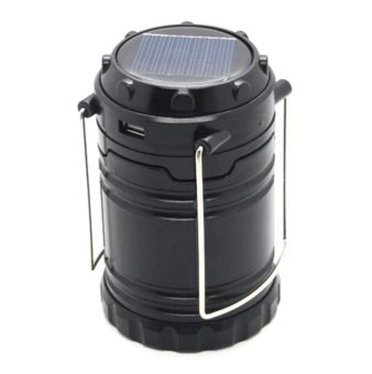 G-85 6 LED Solar Camping Lamp Rechargeable Lantern (Black) - 2