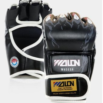 Gants de boxe Gloves Half-finger Sandbag Fighting Boxing Gloves(Black) - intl