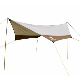 GEERTOP Waterproof Rain Fly Sun Shelter Tent Tarp 4 - 7 Men forCamping - Poles included - Grey