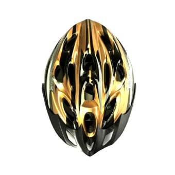 Gold Black Mountain Road Race Bicycle Bike Cycling Safety Unisex Helmet - Intl