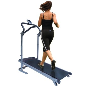 Granmerlen Fold-able Indoors Manual Treadmill (Black)