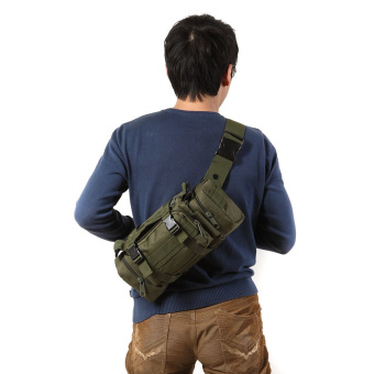 Green Outdoor Military Tactical Waist Pack Molle Camping HikingPouch Bag