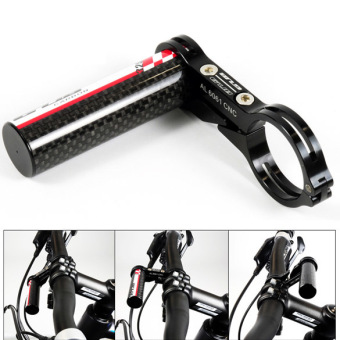 GUB G-329 Carbon Bike Bicycle Handle Bar Extender Mount Lamp HolderBlack