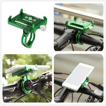 GUB G-85 Metal Bike Bicycle Holder Motorcycle Handle Phone MountHandlebar Extender Phone Holder For iPhone Cellphone GPS Etc GREEN- intl