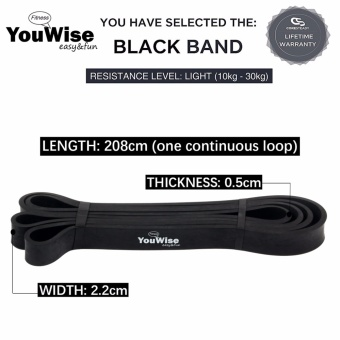 Gym Home Workout Exercise Fitness Band-YouWise(TM) Heave Duty StretchResistance Band,Pull Up Assist band,Mobility,Powerlifting BandBonus eBook-Single Band or one Set - intl - 2