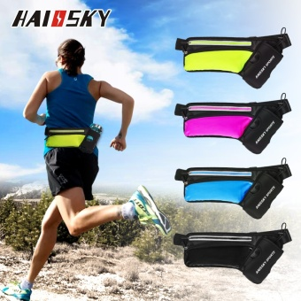 Haissky Can Put Water Bottles Waist Pack Sport Phone Case For Below6 Inch Phone (Black) - intl - 4