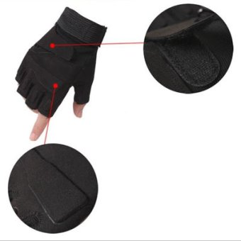 Half-finger Hunting Riding Sport Cycling Parkour Fitness Gym gloves- intl - 3