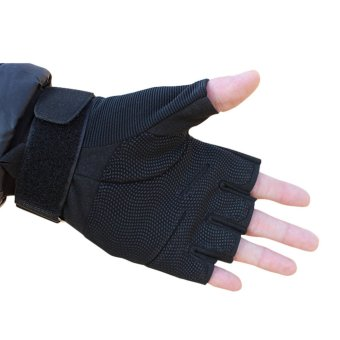 Half-finger Hunting Riding Sport Cycling Parkour Fitness Gym gloves- intl - 2