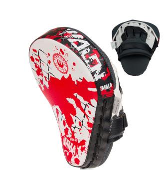 Hand Target MMA Boxing Mitt Training Punch Pad Mitt (Red White-26) - 4