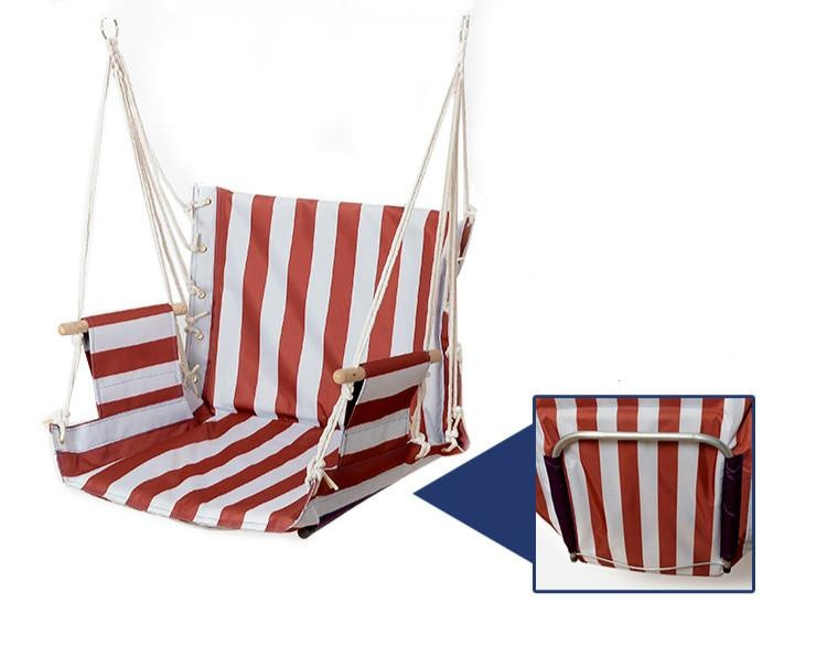 ... Hanging Rope Chair Cotton Padded Swing Chair Hammock Seat ForIndoor Or  Outdoor Spaces   Intl ...