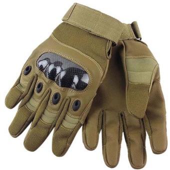 Hengsong Full Finger Riding Gloves (Khaki) - picture 2