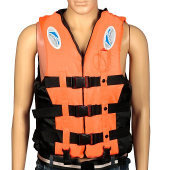 HKS Adult Swimming Life Jacket Whistle L (Orange) - Intl - picture 2