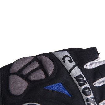 HKS Blue Cycling Bike Bicycle GEL Shockproof Sports Half Finger Glove Size XL - Intl - picture 2
