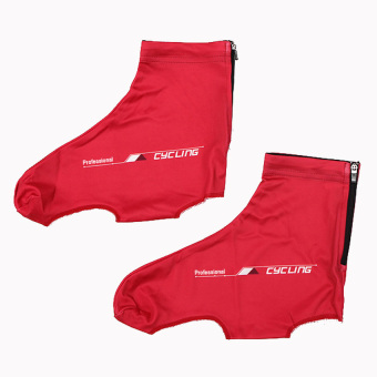 HKS Cycling Shoe Covers(Red M) - INTL