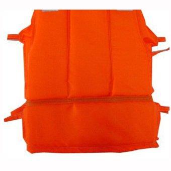 HKS Flood Foam Swimming Life Jacket Vest + Whistle Orange - Intl - picture 2
