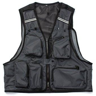 HKS Mens Multi Pockets Vest Outdoor Sports Fishing Camping Size L - Intl
