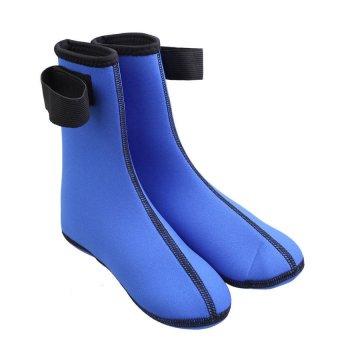 HKS Pair of Neoprene Thick Unisex Beach Swimming Diving Socks Blue - Intl