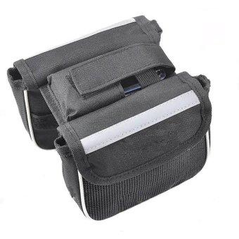 HKS Practical Multifunctional Bicycle Frame Double Saddle Bag Outdoor Adventure (Grey) - Intl