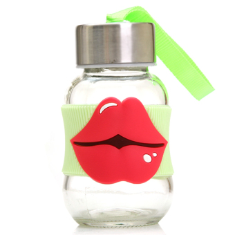 HKS Silicone Lips Thin Waist Glass 145Ml (Green) (Intl)