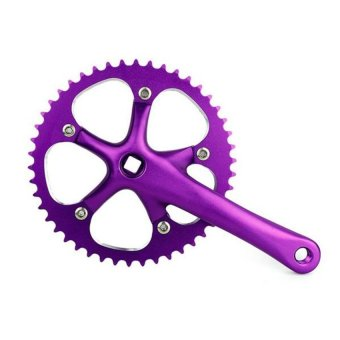 HKS Single Speed Bike Fixed Cranks 170mm (Purple) - Intl