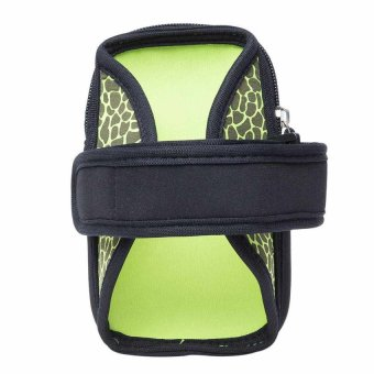HKS Small Outdoor Cycling Sport Running Wrist Mobile Cellphone Bag Arm Package Green/ Black - Intl - picture 2