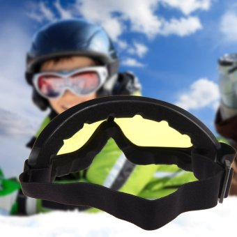HKS Sunglasses Motorcycle Ski Goggles Glasses(Yellow) - Intl - picture 2