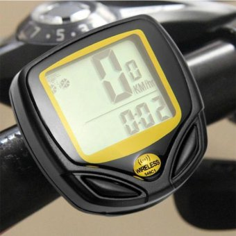 HKS Waterproof Bicycle Computer Speedometer (Yellow) - Intl - picture 2