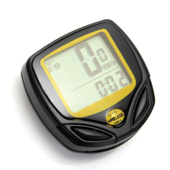 HKS Waterproof Bicycle Computer Speedometer (Yellow) - Intl
