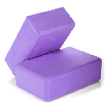 HKS Yoga Block Foaming Foam Block Home Exercise Tool Purple - Intl