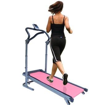Huijun Fold-able Manual Home Treadmill (Pink)