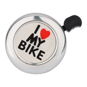 I Love My Bike Printed Bicycle Bell - Intl