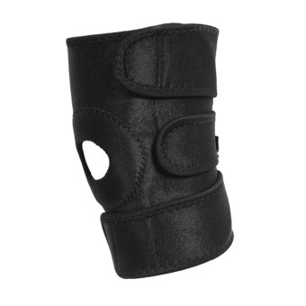 Breathable Knee Support Brace Adjustable Hook and Loop Straps Compression Sleeve (Black) - intl Price Philippines