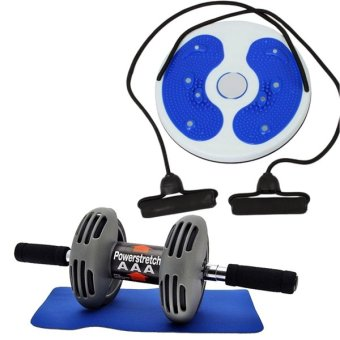 Harga Power Stretch Roller Total Body Exerciser with Training Massage Foot Twister Trimmer Board(Colors may vary)