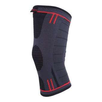 Compression Knee Sleeve Support Knee Brace For Running Crossfit (dark grey M) - intl Price Philippines