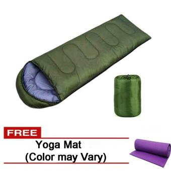 Folding Outdoor Sleeping Bag (Green) Free Yoga Mat (Color may Vary) Price Philippines
