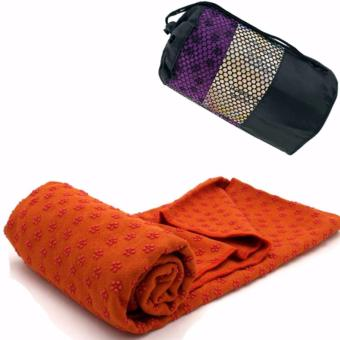 Harga Yoga Mat Microfiber Towel with Carrying Bag (Color May Vary)