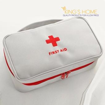 Harga King's Home First Aid Bag First Aid Pouch Multi Purpose Bag Medical Organizer
