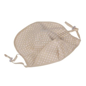 Andux Golf Uv-blocking Sports Wear Cute Dot Mask Protection to the Neck Face KZ-02 (Beige) Price Philippines