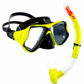 Aquagear M22 Mask & Snorkel Set Neon Yellow/Black Price Philippines