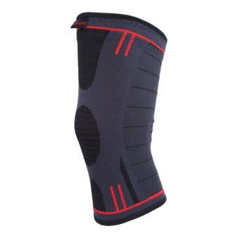 Elastic Leg Compression Sleeve Knee Support Brace Fit For Man and Women (Dark Grey S) - intl Price Philippines