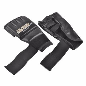 Training Sparring Half Mitts Leather MMA Muay Thai Black Pair Price Philippines