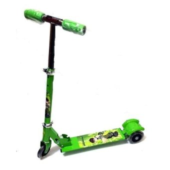 Harga 508 type Ride-On Push Scooter for Kids with laser wheel (Green)