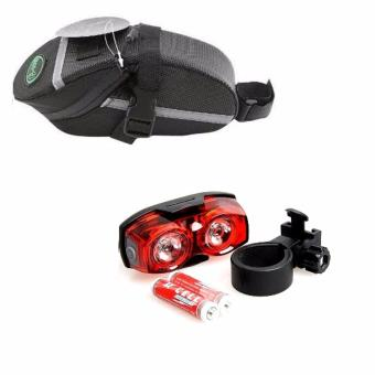 Harga Combo Set Bike Waterproof Saddle Stash Bag #0089 with Raypal 2230 Tail Light #0011