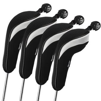 Andux 4pcs/set Golf Hybrid Club Head Covers Headcovers Interchangeable Black Price Philippines