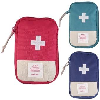 OH New Outdoor Name *Camping Home Survival Portable First Aid Kit bag Case Blue Price Philippines