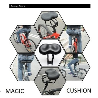 Fortress Bicycle Cycling Saddle Mountain Bike Cushion Magic MTB Bike Seat (Black) Price Philippines