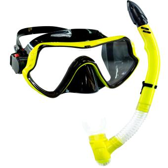 Aquagear M11 Mask and Snorkel Neon Yellow/Black Price Philippines