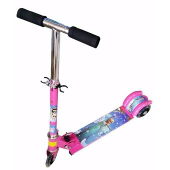 Harga Ride-On Push Scooter for Kids with laser wheel (Pink) Frozen