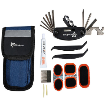 Harga ROCKBROS Bike Tools Portable Tyre Repair Kit Tool Bag With Multi-function Tool