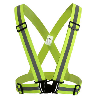 Harga Salzmann Cycling Elastic Reflective Safety Harness Belt Vest - Yellow - intl